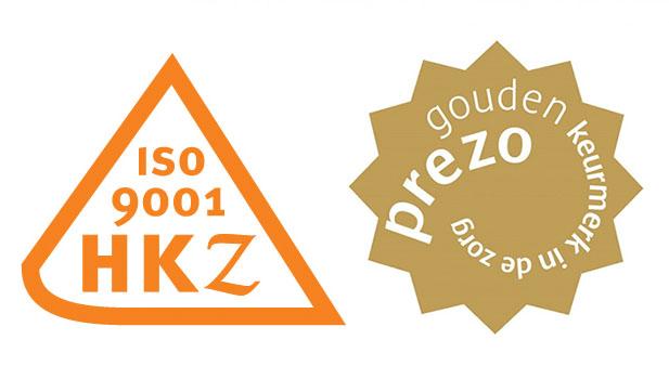 HKZ, ISO en Prezo certificaat
